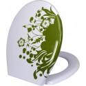 Deska sedesowa Zielona Łąka z motywem kwiatowym
