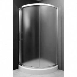 Kabina prysznicowa PAROS półokrągła 93,5x93,5x185 szkło GRAFIT
