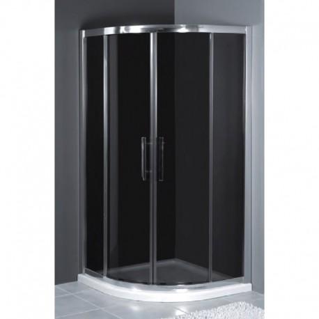 Kabina prysznicowa RODOS półokrągła 80 x 80 x 185 szkło GRAFIT