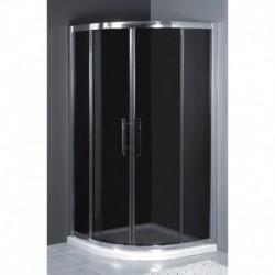 Kabina prysznicowa RODOS półokrągła 80 x 80 x 185 szkło MROŻONE