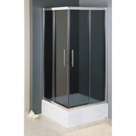 Kabina prysznicowa KRETA kwadratowa 90 x 90 x 165 cm, szkło MROŻONE