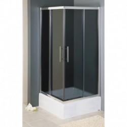 Kabina prysznicowa KRETA kwadratowa 90 x 90 x 165 cm, szkło GRAFITOWE