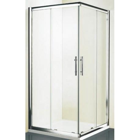 Kabina prysznicowa KRETA kwadratowa 90 x 90 x 185 cm, szkło PRZEŹROCZYSTE