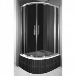 Kabina prysznicowa RODOS MAX półokrągła 100 x 80 x 165 szkło GRAFIT