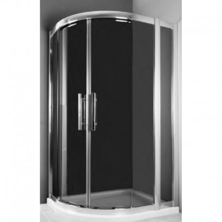 Kabina prysznicowa RODOS MAX półokrągła 100 x 80 x 185 szkło GRAFIT