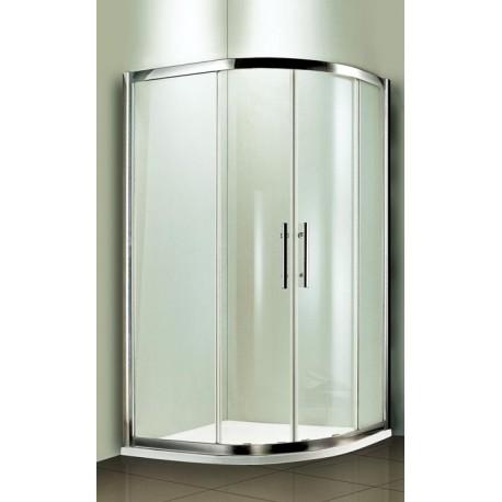 Kabina prysznicowa RODOS MAX półokrągła 100 x 80 x 185 szkło PRZEŹROCZYSTE
