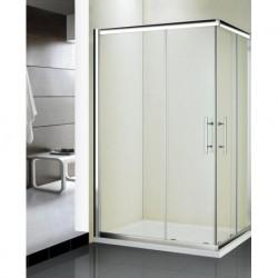 Kabina prysznicowa KRETA MAX kwadratowa 100 x 80 x 185 cm, szkło GRAFIT